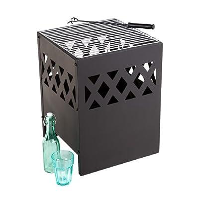 Garden Patio Jamaica Fire Basket Incinerator Braizer Bbq With Cover