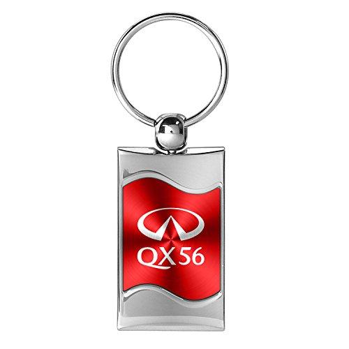 infiniti-qx56-red-spun-brushed-metal-key-chain