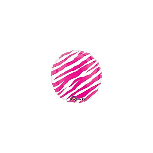 Mayflower BB021216 Hot Pink Zebra Print Balloon