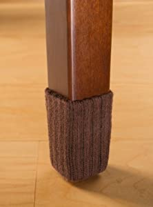 Small Chocolate Brown Chair Leg Floor Protector Pads 8