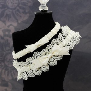 Cathys Concepts 3056I Eleanor Lace Wedding Garter in Ivory Picture