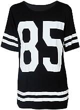 Ularmo Fashion Womens Baseball Short Sleeeve Shirt Loose Mini Shirtdress
