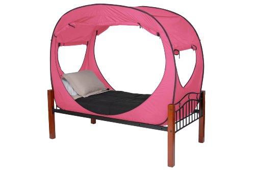 privacy pop bed tent twin pink donald sutherland shopping. Black Bedroom Furniture Sets. Home Design Ideas