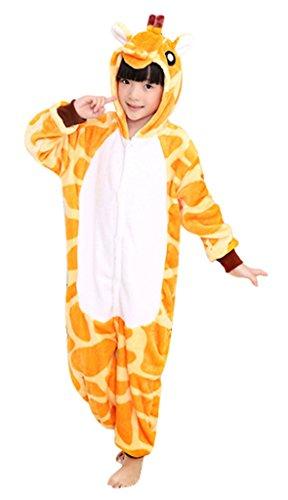 GILLBRO Kigurumi Cosplay Costume Pigiama Per Bambini, Giraffa H 115 cm