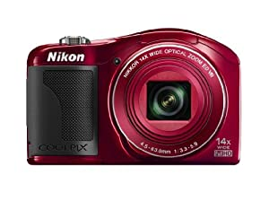 Nikon COOLPIX L610 16 MP Digital Camera with 14x Zoom NIKKOR Glass Lens and 3-Inch LCD (Red)