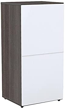 Nexera 221233 Allure 1-Door Storage Unit, 36-Inch, Ebony and White