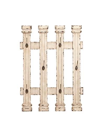 Benzara Fence Wall Hooks, White