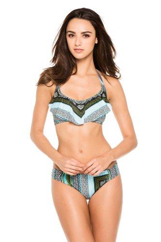 Lucky Brand Women'S Corona Del Mar Halter Bikini Top Multi L