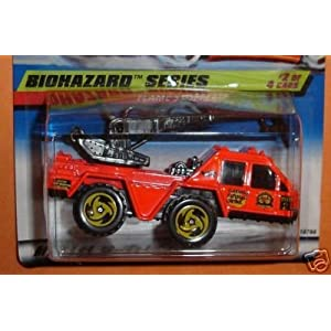 Mattel Hot Wheels 1998 1:64 Scale Biohazard Series Pink Flame Stopper Die Cast Car 2/4