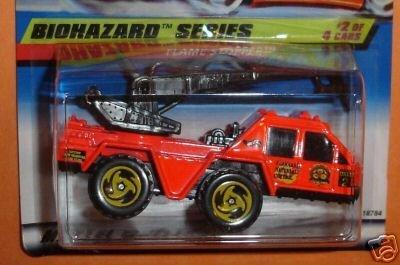 Mattel Hot Wheels 1998 1:64 Scale Biohazard Series Pink Flame Stopper Die Cast Car 2/4 - 1