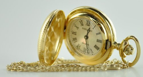 Stainless Steel Pocket Watch by Bariloche 8101GP-M2