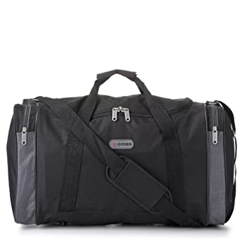 Carry On Lightweight Small Hand Luggage Cabin on Flight &Holdalls/Duffel Weekend Overnight Bags - Large Duffle Sports/Gym Bag with Shoulder Straps.