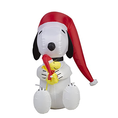 Airblown Inflatable Peanuts 3' LED Lighted Snoopy and Woodstock