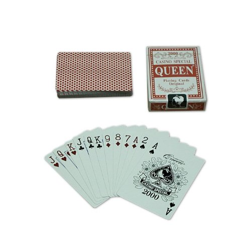 Trademark Poker Queen Playing Cards - 1 Deck (Red)