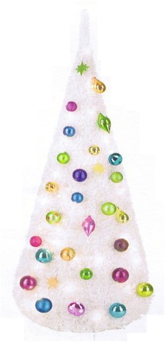 Trendy & funky 5ft pop up Christmas tree with lights & decorations