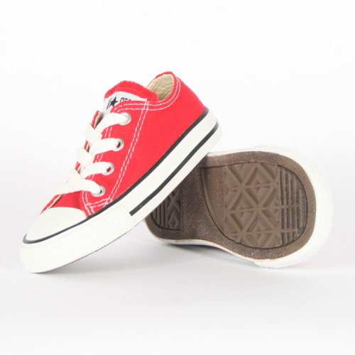 Converse - Infant Chuck Taylor Allstar OX Shoes, Size: 7 M US Toddler, Color: Red