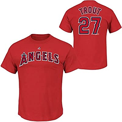 Mike Trout Los Angeles Angels of Anaheim #27 MLB Youth Synthetic Player T-Shirt