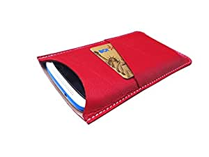 ATV Genuine Leather RED Designer Pouch Case Cover For LeEco Le 2