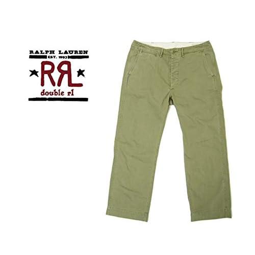 (ラルフローレンダブルアールエル) ralph lauren RRL チノ トラウザーパンツ/GREEN KHAKI W34×L30 [並行輸入品]