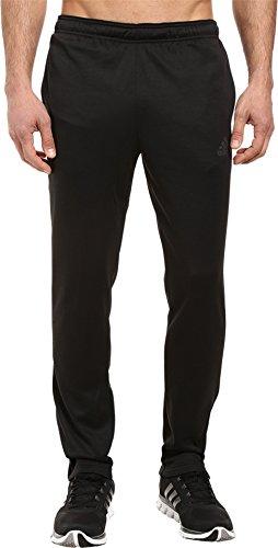 adidas Men's Team Issue Fleece Tapered Pants, Large, Black/Heather/Dark Grey Heather