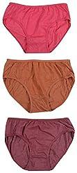 ALOFT Women's Panties - Combo of 3 (ALOFTRAJINI, Pink, Gold and Brown, XL)