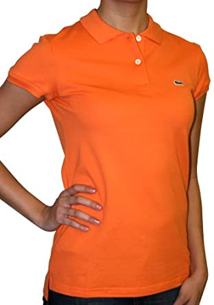 LACOSTE Womens Pique Knit Polo Shirt Size S-6