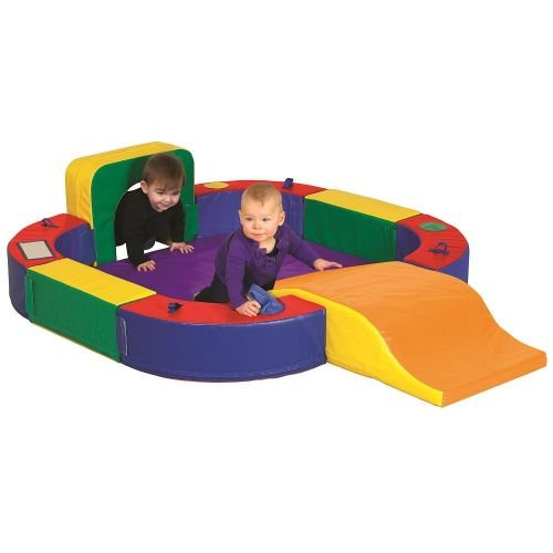 ECR4Kids SoftZone Discovery Center with Tunnel and Slide Playset, Assorted - 1
