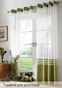 Modern Voile Curtains Ring Top Ready Made Eyelet Voile