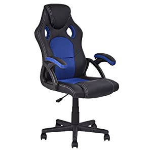 Giantex PU Leather Executive Bucket Seat Racing Style Office Chair Computer Desk Task