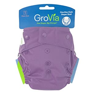 GroVia Snap Diaper Shell System, Blackberry