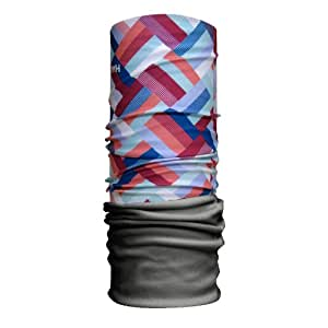 H.a.d. écharpe foulard adulte et hiver en polaire, hA2100-24 Taille unique Gris - Grau/Mehrfarbig