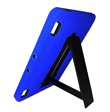 "FlipStands Kindle Fire HDX 7"" ""Tough Grade"" Shock Proof Case with Built in Stand, Screen Protector and Stylus - Blue"