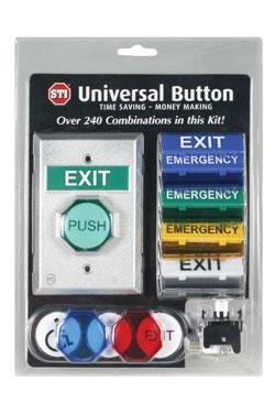 Safety Technology International Universal Button 240 Different Configurations Same Package