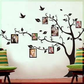 LARGE Black Photo Picture Frame Tree Vine Branch Removable Wall Decor Decal Sticker XL LEFT FACING by Wall Decal