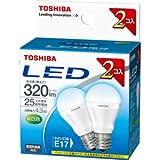 東芝 E-CORE(イー・コア) LED電球 ミニクリプトン形 4.3W (密閉器具対応・フィンレス構造・E17口金・小型電球25W相当・320ルーメン・昼白色)【2個セット】 LDA4N-E17-2P
