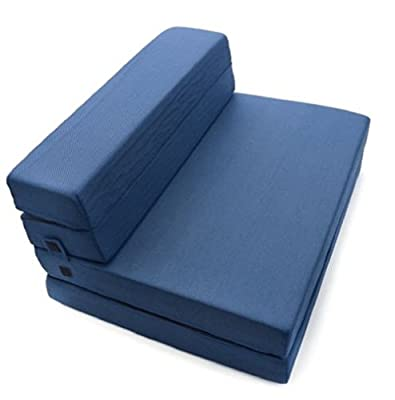 Milliard Simple, but elegant alternative Tri-Fold Foam Folding Mattress and Sofa Bed for Guests or Floor Mat