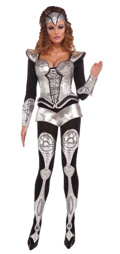 Forum Outta Space Sexy Cyborg Large Costume, Gray, One Size