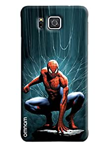 Omnam Spiderman with blue back ground designer back cover case for Samsung Galaxy Alfa