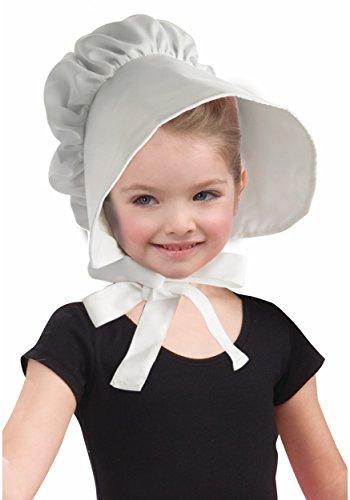 Colonial White Bonnet Child Hat