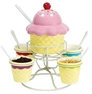 Amazon.com: Boston Warehouse Ice Cream Social Topping Spinner Set ...