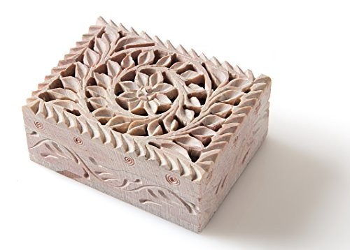 StarZebra - Handmade Cute Jewelry Box for Girls with Fine Detail of Jaali Lattice Work From India
