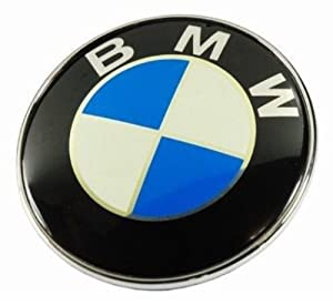 New BMW EMBLEM 2 Pins LOGO FRONT HOOD OR REAR TRUNK BADGE SYMBOL ROUNDEL 82MM