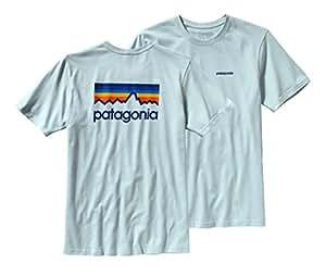 Patagonia t-shirt pour homme logo line M Vert - Dusk Blue