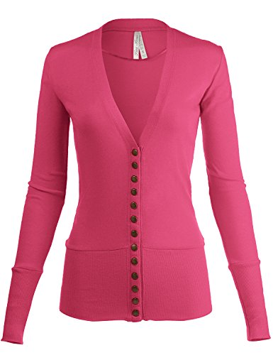 Classic Snap Button Front Tunic V-Neck Slim Fit Cardigans