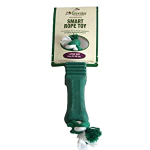 Greenies Dog Chew Rope Toy ~ The Original Smart Toy for Dog ~ Regular 25-50 lbs, Large 50-100 lbs ~ Green (Large 50-100 lbs)