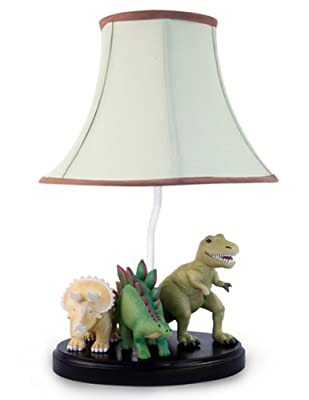 Dinosaur Table Lamp with Matching Night Light - Fantastic Hand Painted Details