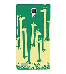 Giraffe pattern Back Case Cover for Xiaomi Redmi Note::Xiaomi Redmi Note 4G