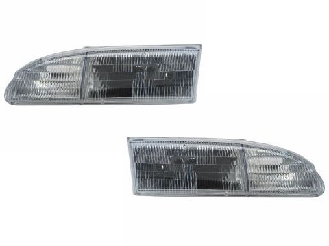 Ford Thunderbird New Replacement Headlights Set Headlamps Pair (Ford Thunderbird Headlights compare prices)