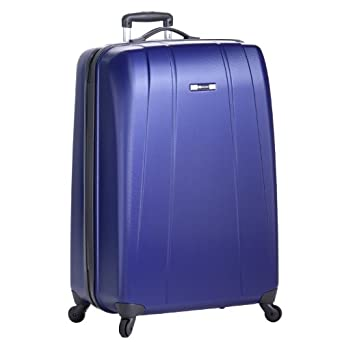 Delsey Luggage Helium Shadow Lightweight Hardside 4 Wheel Spinner, Blue, 25 Inch