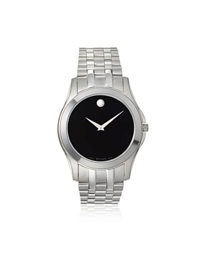 Movado Men's 605973 Corporate Silver/Black Stainless Steel Watch